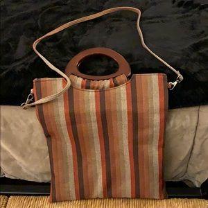 Boho Style Striped Cross Body Bag